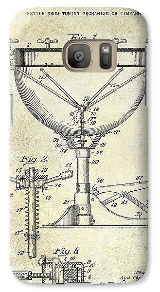 Drum Galaxy S7 Case - 1941 Ludwig Drum Patent  by Jon Neidert