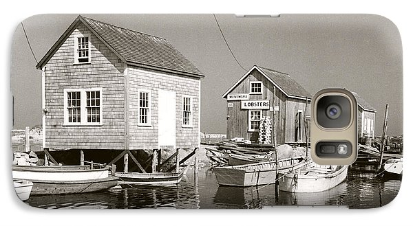 Galaxy Case featuring the photograph 1941 Lobster Shacks, Martha's Vineyard by Historic Image