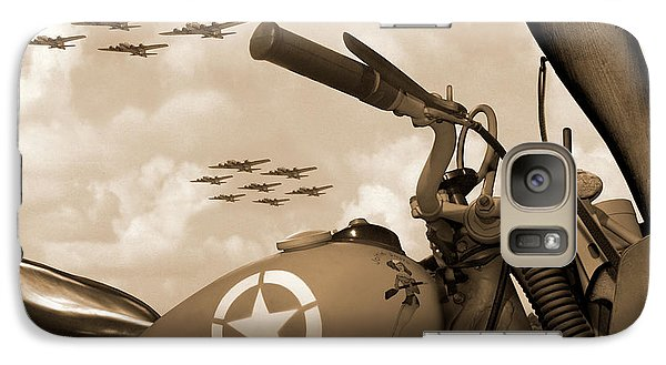 Galaxy Case featuring the photograph 1942 Indian 841 - B-17 Flying Fortress - H by Mike McGlothlen