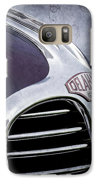 Galaxy Case featuring the photograph 1947 Delahaye Emblem -1477ac by Jill Reger