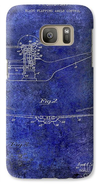 1947 Helicopter Patent Blue Galaxy S7 Case by Jon Neidert