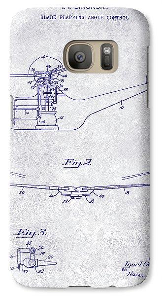 1947 Helicopter Patent Blueprint Galaxy S7 Case by Jon Neidert