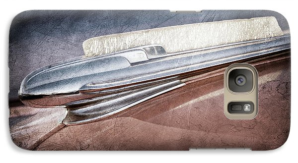 Galaxy Case featuring the photograph 1948 Chevrolet Hood Ornament -0587ac by Jill Reger