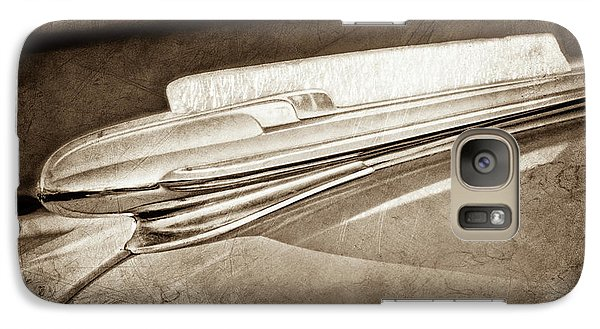 Galaxy Case featuring the photograph 1948 Chevrolet Hood Ornament -0587s by Jill Reger
