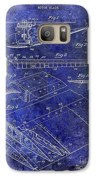 1949 Helicopter Patent Blue Galaxy S7 Case by Jon Neidert