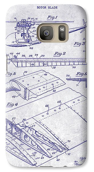 1949 Helicopter Patent Blueprint Galaxy S7 Case by Jon Neidert