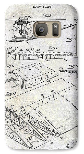 1949 Helicopter Patent Galaxy S7 Case by Jon Neidert