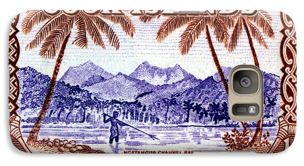 Galaxy Case featuring the painting 1949 Native Fishing, Cook Islands by Historic Image