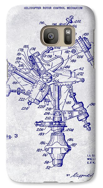 1950 Helicopter Patent Blueprint Galaxy S7 Case