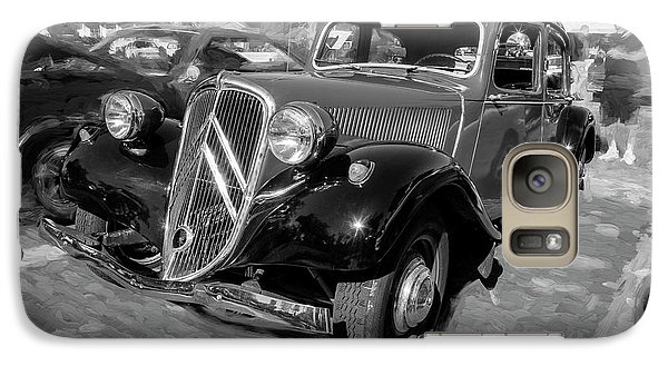 Galaxy Case featuring the photograph 1953 Citroen Traction Avant Bw by Rich Franco