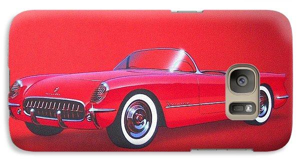 1953 Corvette Classic Vintage Sports Car Automotive Art Galaxy S7 Case