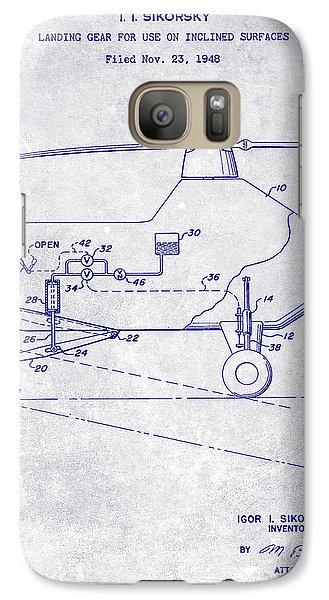 1953 Helicopter Patent Blueprint Galaxy S7 Case by Jon Neidert