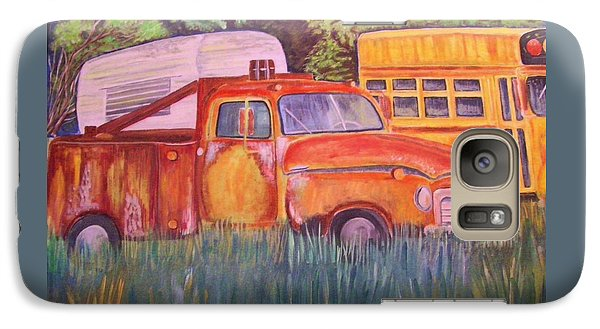 Galaxy Case featuring the painting 1954 Gmc Wrecker Truck by Belinda Lawson