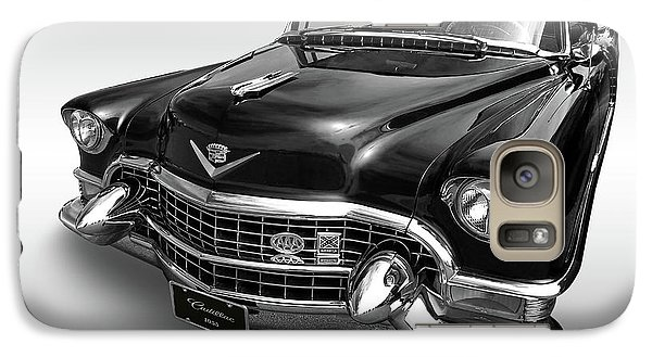 Galaxy Case featuring the photograph 1955 Cadillac Black And White by Gill Billington