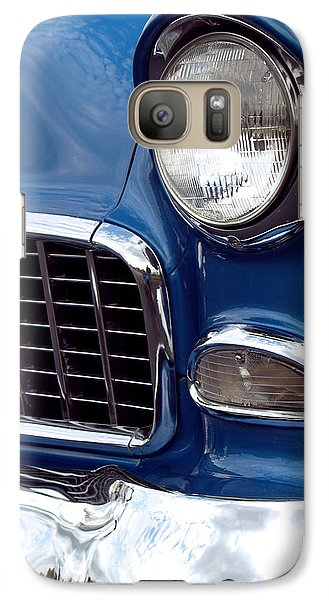 Car Galaxy S7 Case - 1955 Chevy Front End by Anna Lisa Yoder