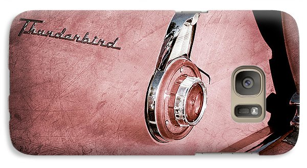 Galaxy Case featuring the photograph 1956 Ford Thunderbird Convertible Taillight Emblem -0361ac by Jill Reger