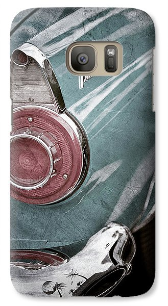 Galaxy Case featuring the photograph 1956 Ford Thunderbird Taillight Emblem -0382ac by Jill Reger