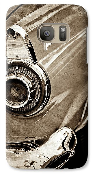 Galaxy Case featuring the photograph 1956 Ford Thunderbird Taillight Emblem -0382s by Jill Reger
