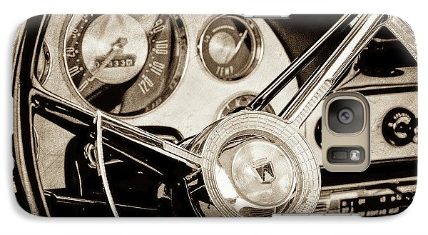 Galaxy Case featuring the photograph 1956 Ford Victoria Steering Wheel -0461s by Jill Reger