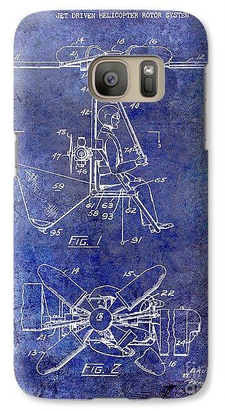 1956 Helicopter Patent Blue Galaxy S7 Case by Jon Neidert