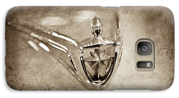 Galaxy Case featuring the photograph 1956 Lincoln Premier Convertible Hood Ornament -0832s by Jill Reger