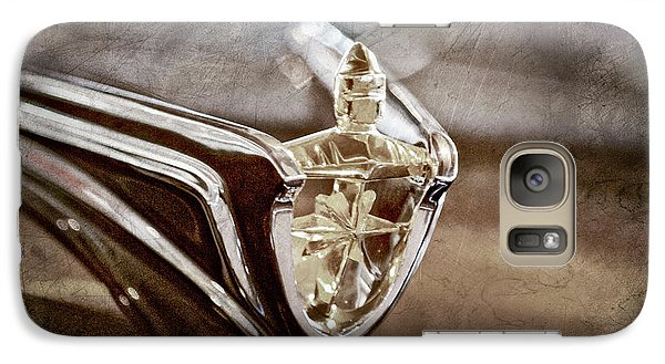 Galaxy Case featuring the photograph 1956 Lincoln Premiere Convertible Hood Ornament -2797ac by Jill Reger
