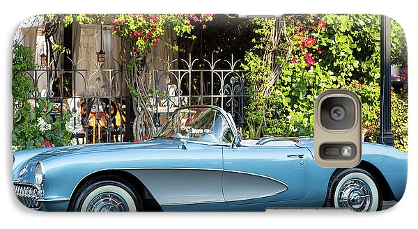 Galaxy Case featuring the photograph 1957 Corvette by Brian Jannsen