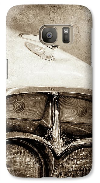 Galaxy Case featuring the photograph 1957 Mercury Turnpike Cruiser Emblem -0749s by Jill Reger