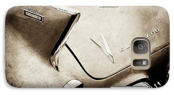 Galaxy Case featuring the photograph 1958 Cadillac Eldorado Biarritz Taillight Emblems -0255s by Jill Reger