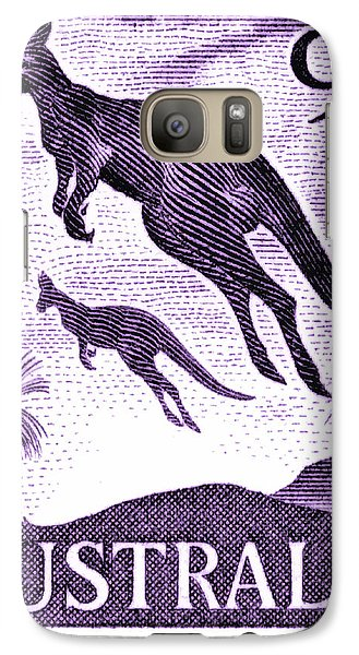 Kangaroo Galaxy S7 Case - 1959 Australia Kangaroo Postage Stamp by Retro Graphics