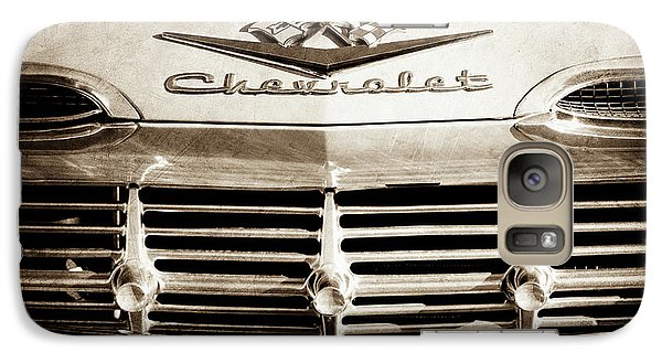 Galaxy Case featuring the photograph 1959 Chevrolet Impala Grille Emblem -1014s by Jill Reger