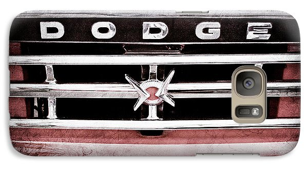 Galaxy Case featuring the photograph 1960 Dodge Truck Grille Emblem -0275ac by Jill Reger