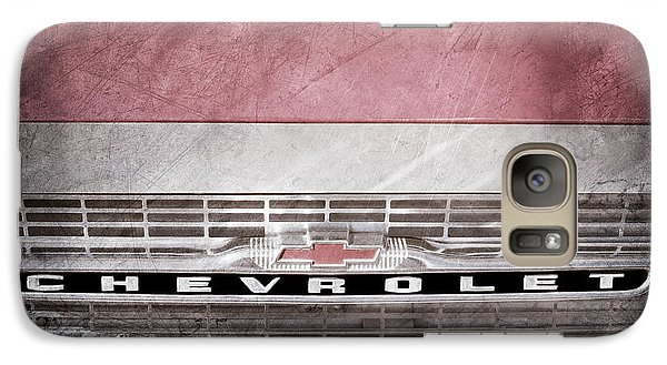 Galaxy Case featuring the photograph 1961 Chevrolet Corvair Pickup Truck Grille Emblem -0130ac by Jill Reger