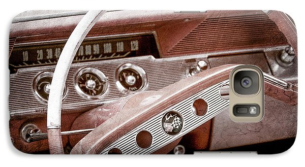 Galaxy Case featuring the photograph 1961 Chevrolet Impala Ss Steering Wheel Emblem -1156ac by Jill Reger
