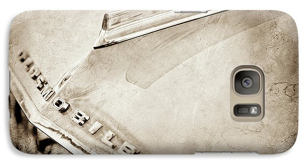 Galaxy Case featuring the photograph 1962 Oldsmobile Hood Ornament And Emblem -0598s by Jill Reger