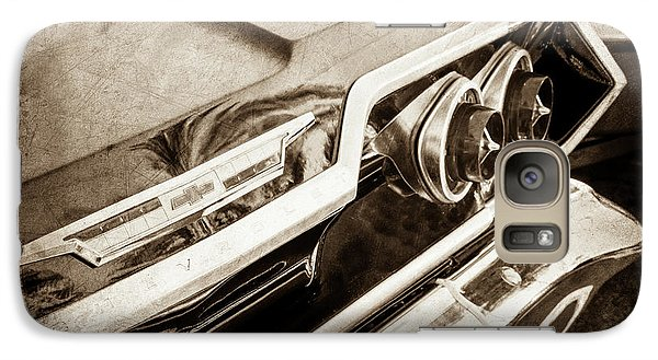 Galaxy Case featuring the photograph 1963 Chevrolet Taillight Emblem -0183s by Jill Reger