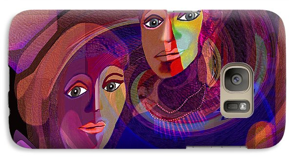 Galaxy Case featuring the digital art 1963 - Pandoras Magic Box 2017 by Irmgard Schoendorf Welch