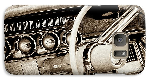 Galaxy Case featuring the photograph 1964 Ford Thunderbird Steering Wheel -0280s by Jill Reger