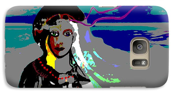 Galaxy Case featuring the digital art 1964 - Walk On The Seaside by Irmgard Schoendorf Welch