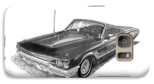 Galaxy Case featuring the drawing 1965 Thunderbird Convertible By Ford by Jack Pumphrey