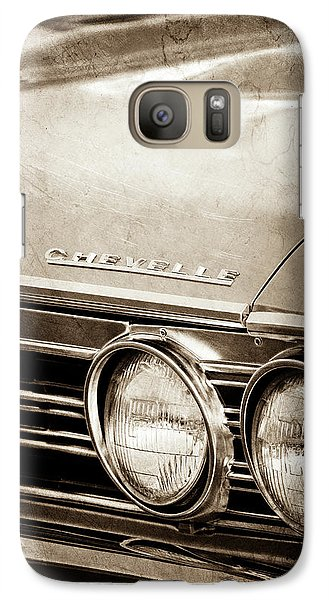 Galaxy Case featuring the photograph 1967 Chevrolet Chevelle Ss Super Sport Emblem -0413s by Jill Reger