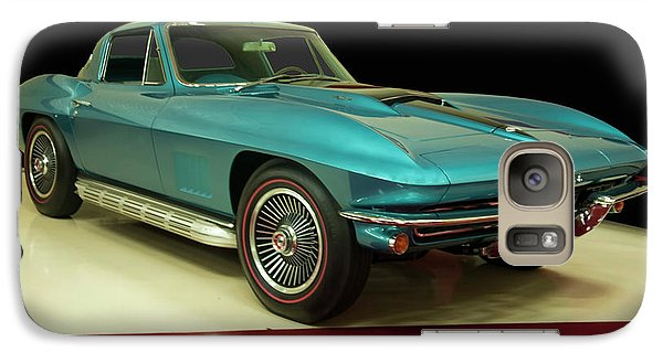 Galaxy Case featuring the digital art 1967 Chevrolet Corvette 2 by Chris Flees