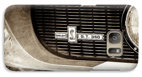 Galaxy Case featuring the photograph 1967 Ford Gt 350 Shelby Clone Grille Emblem -0759s by Jill Reger
