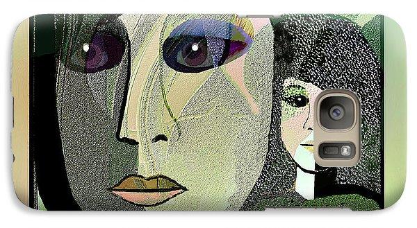 Galaxy Case featuring the digital art 1968 - A Dolls Head by Irmgard Schoendorf Welch