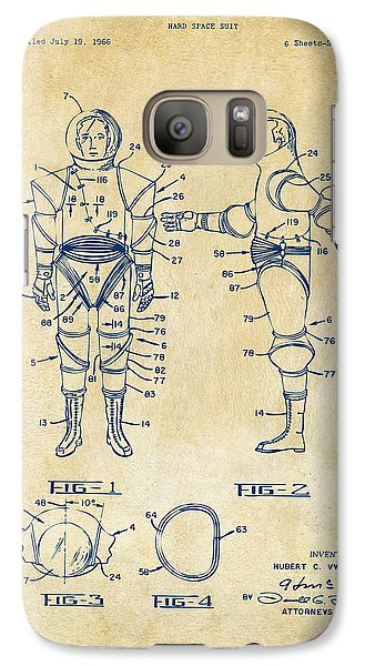 1968 Hard Space Suit Patent Artwork - Vintage Galaxy S7 Case
