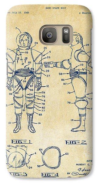 1968 Hard Space Suit Patent Artwork - Vintage Galaxy S7 Case by Nikki Marie Smith