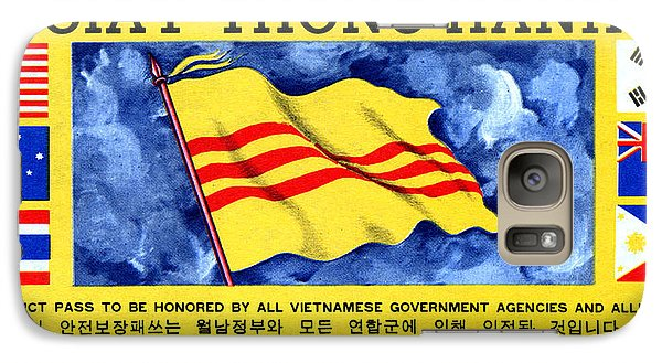 Galaxy Case featuring the painting 1968 Vietnam War Safe Conduct Pass by Historic Image