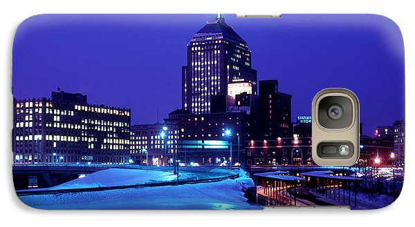 Galaxy Case featuring the photograph  1969 Boston Twilight by Historic Image