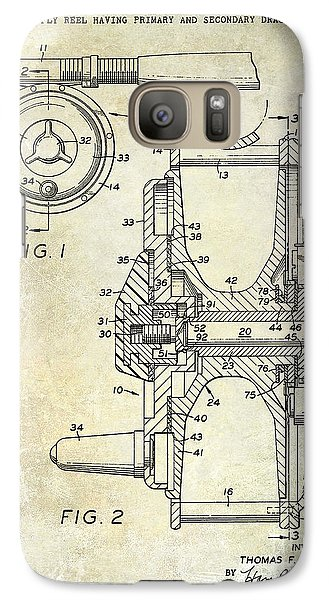 1969 Fly Reel Patent Galaxy S7 Case