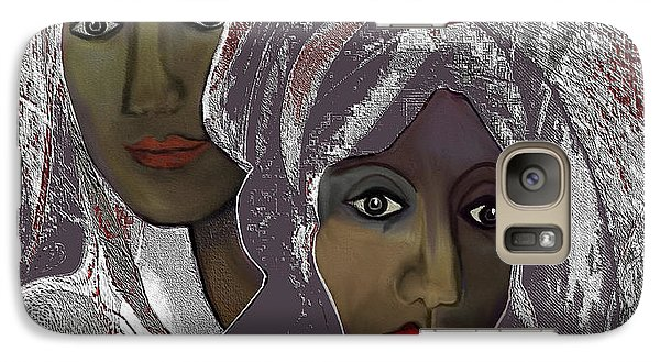 Galaxy Case featuring the digital art 1969 -  White Veils by Irmgard Schoendorf Welch